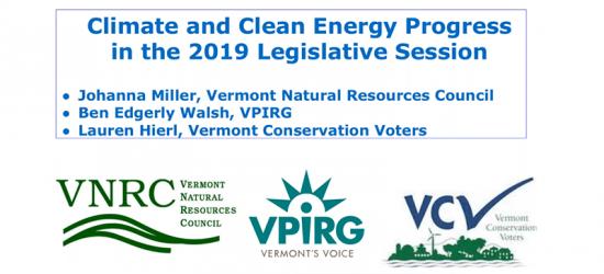 Legislative Lowdown on Vermont